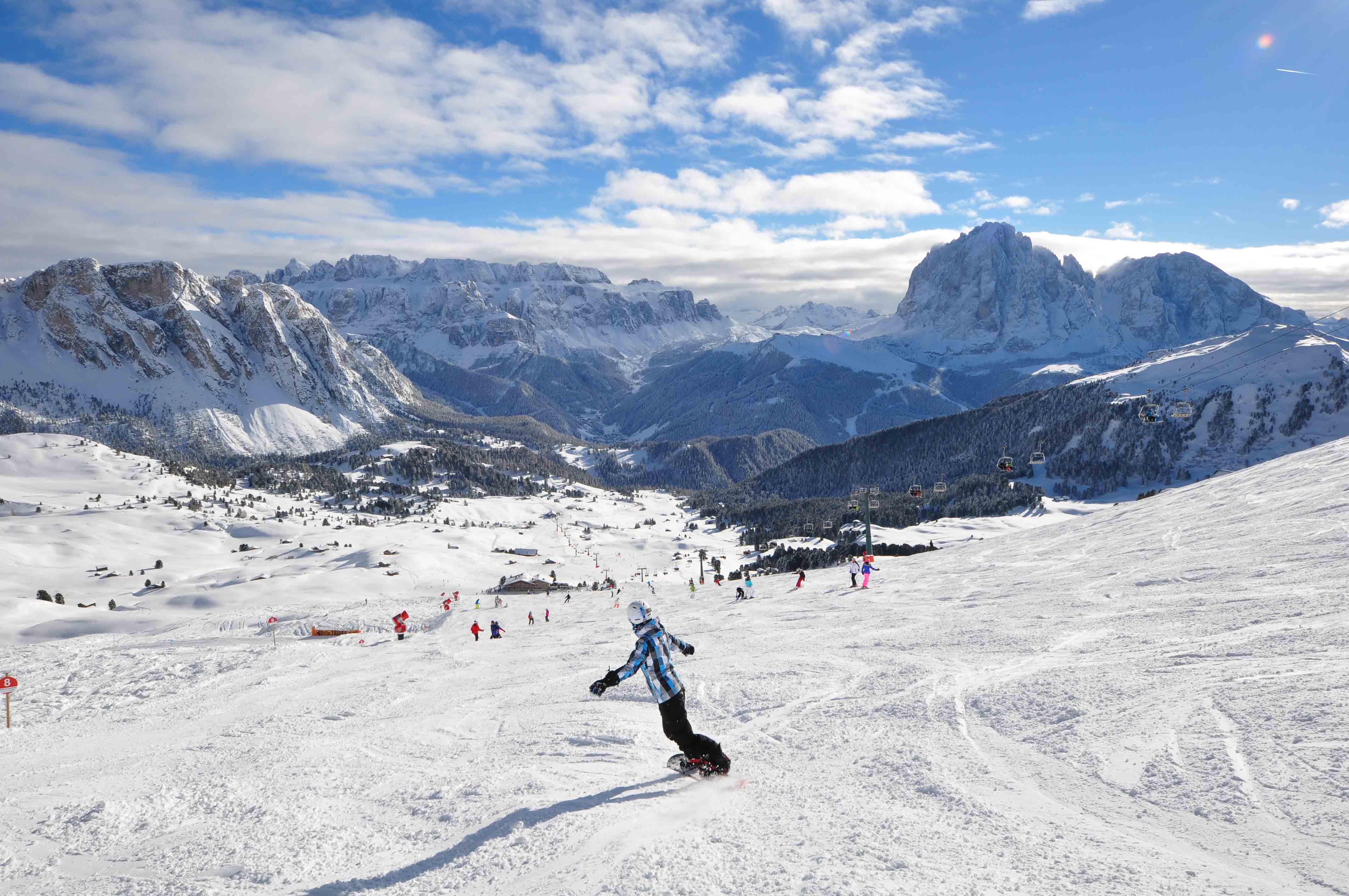 Sciare sul Seceda in Val Gardena