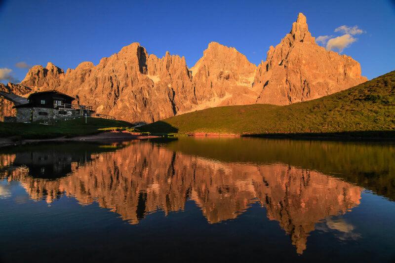 Tramonto sulle Pale di San Martino da Baita Segantini