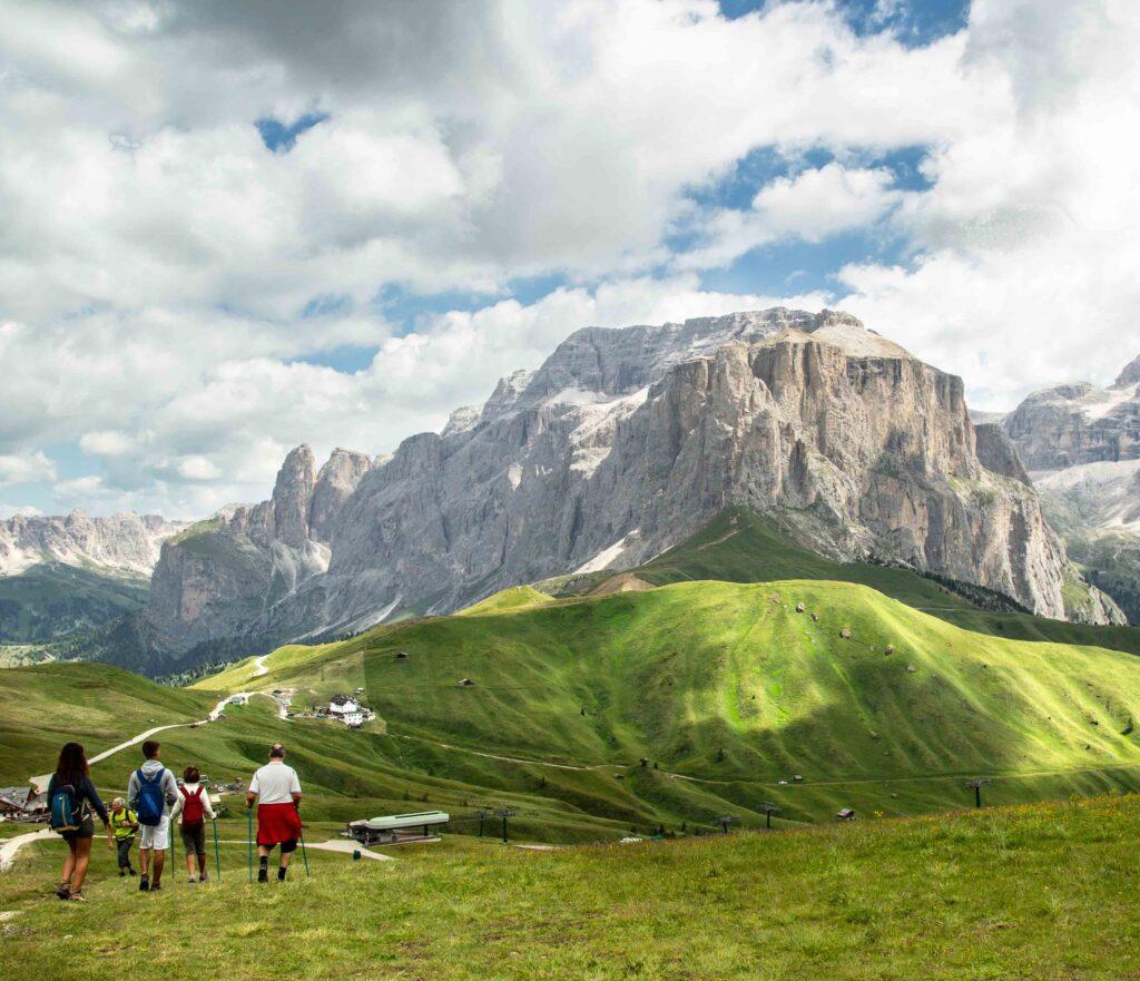 Panorama sulle Dolomiti della Val Fassa