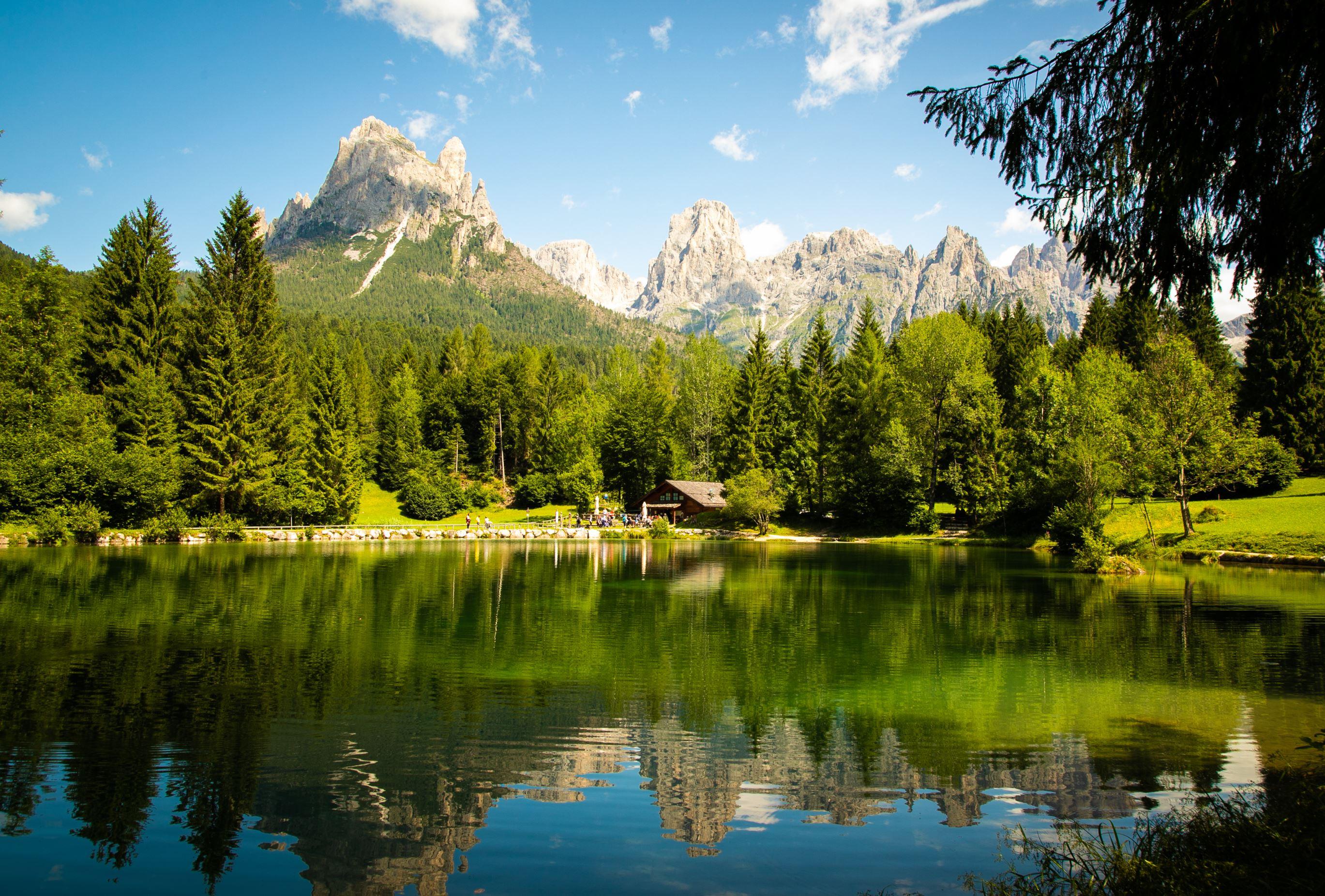 Laghetto Welsperg in Val Canali nella valle di Primiero