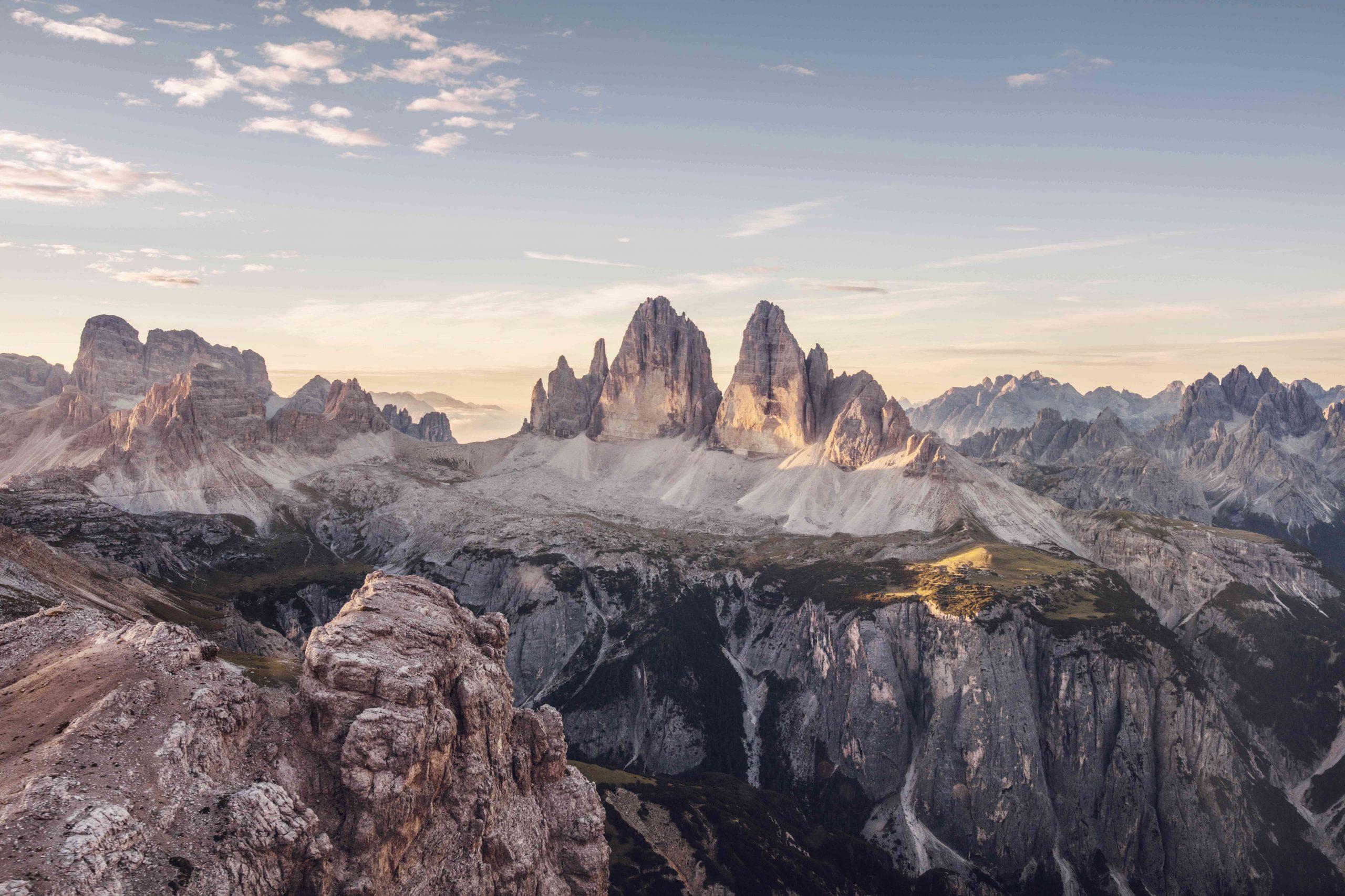 Panorama sul Parco Naturale Tre Cime